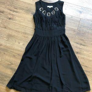 Black Drapey Tie-back Dress w/ Front Details
